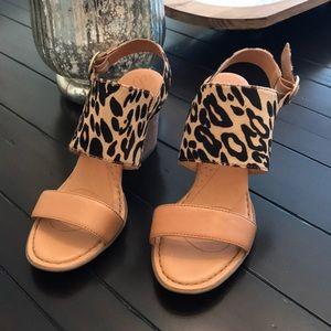 Crown Leopard Heels